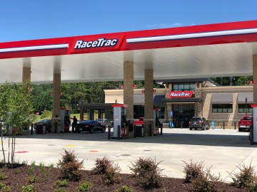 Photo of RaceTrac service station on Jodeco Road (staff photo)