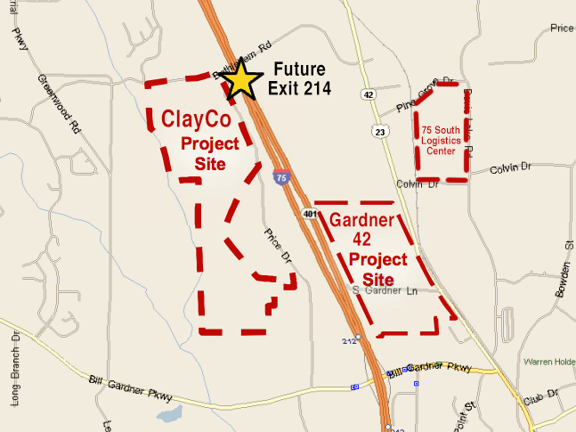 Map of industrial projects within Locust Grove version 2 (December 2018)