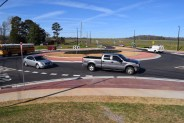 Photo of state route 20 and East Lake Road roundabout (Henry Herald photo)