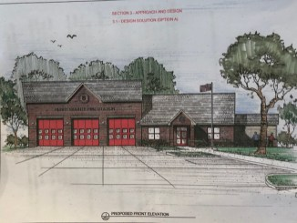 Front elevation for new Henry County Fire Station 8 on Jodeco Road