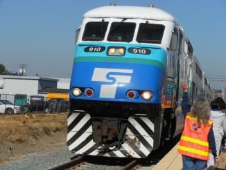 Photo of commuter rail train (AJC photo)