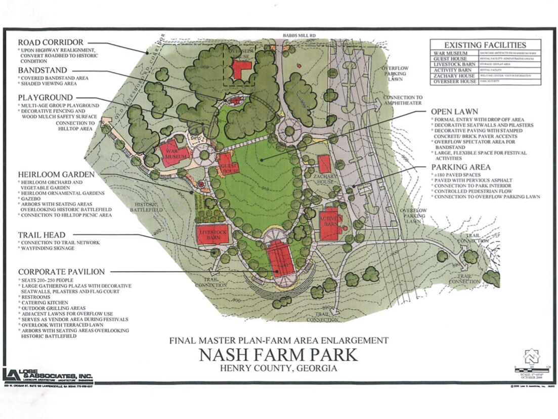 Master plan for Nash Farm Park (Henry County photo)