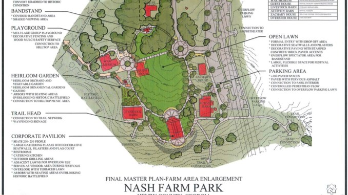 Master plan for Nash Farm (Henry County photo)