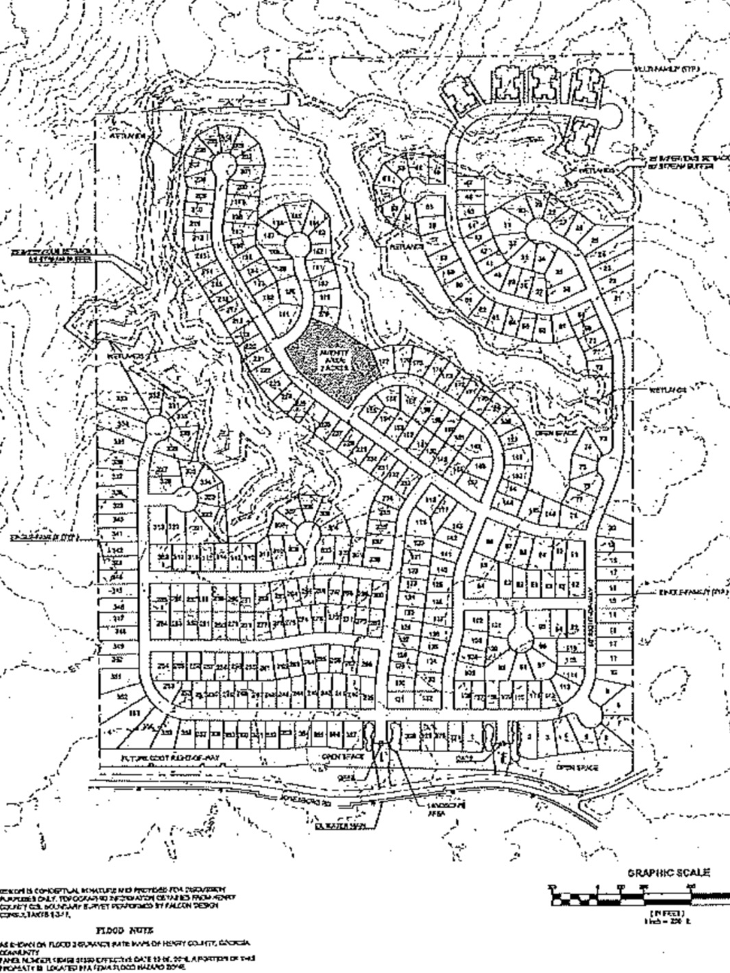 Concept site plan for Hybrass Properties development on Jonesboro Road