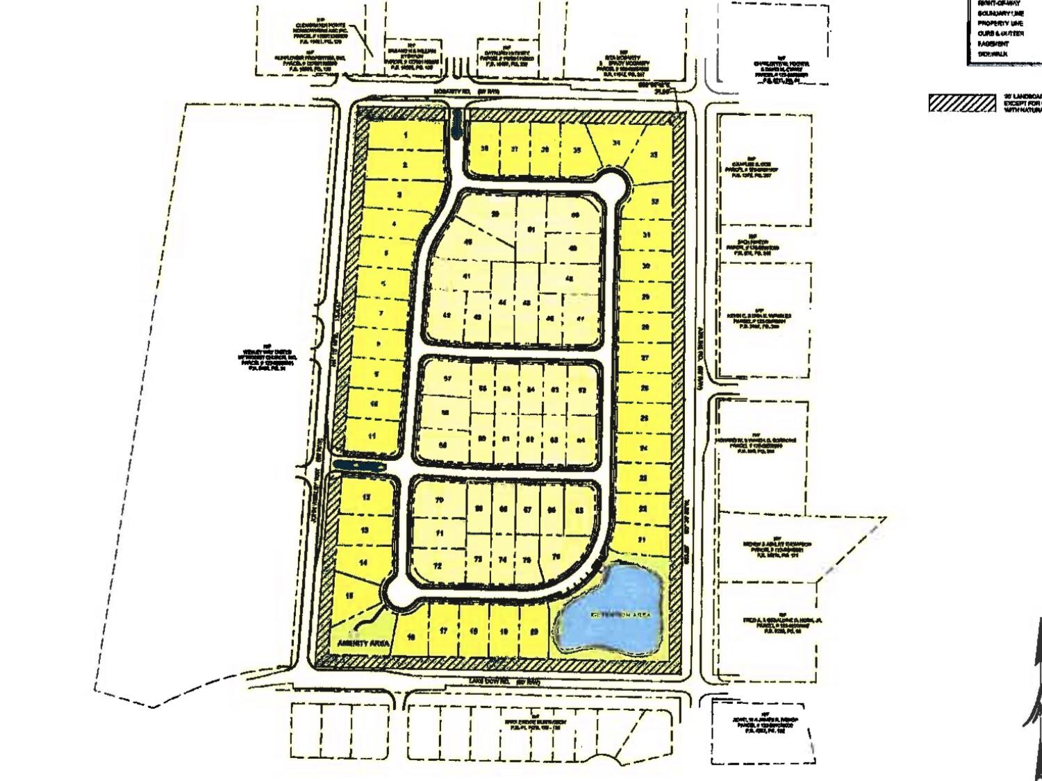 Concept site plan for Stapleton Park subdivision