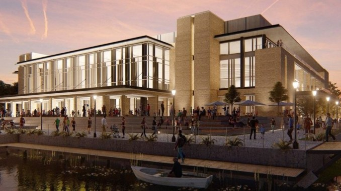 Architectural rendering for Savannah arena project