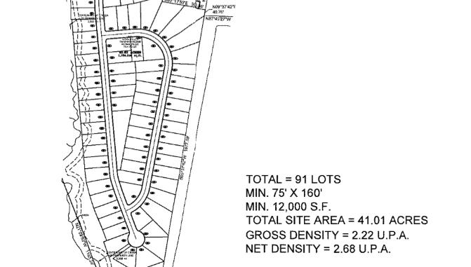 Concept site plan for South Hampton Road rezoning request