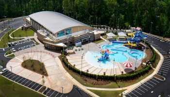 Photo of Cherokee County Aquatic Center (New South Construction photo)