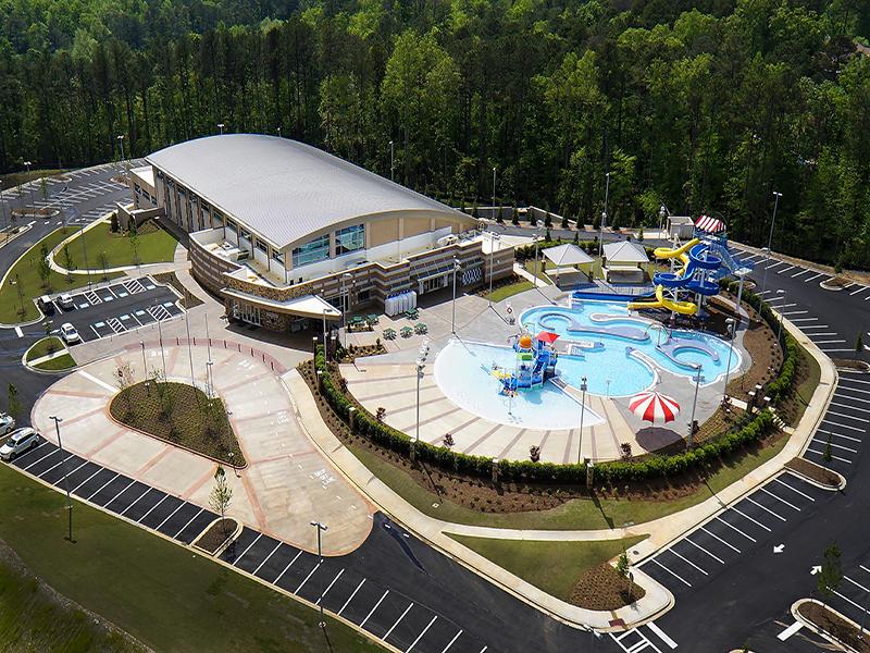 Photo of Cherokee County Aquatic Center (New South Construction photo)