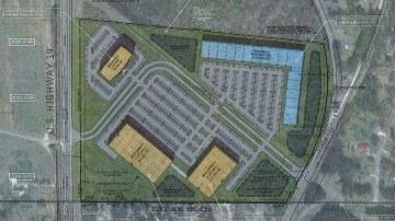 Concept site plan for proposed industrial development located on US 19 / 41 in Hampton