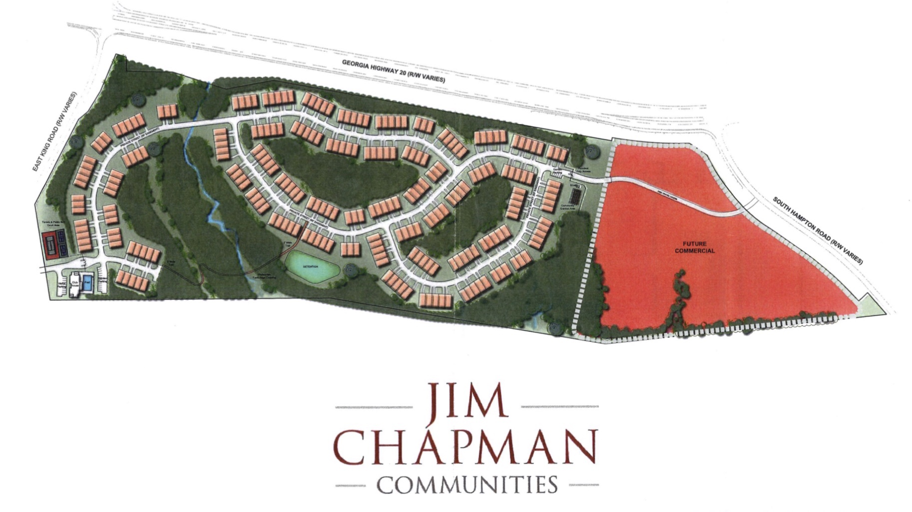 Concept site plan for the Cottages at Southampton