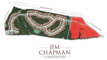 Concept site plan of Jim Chapman active adult community in Hampton (developer photo)