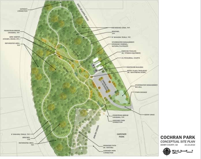 Concept site plan for Cochran Park conversion to passive space (county photo)