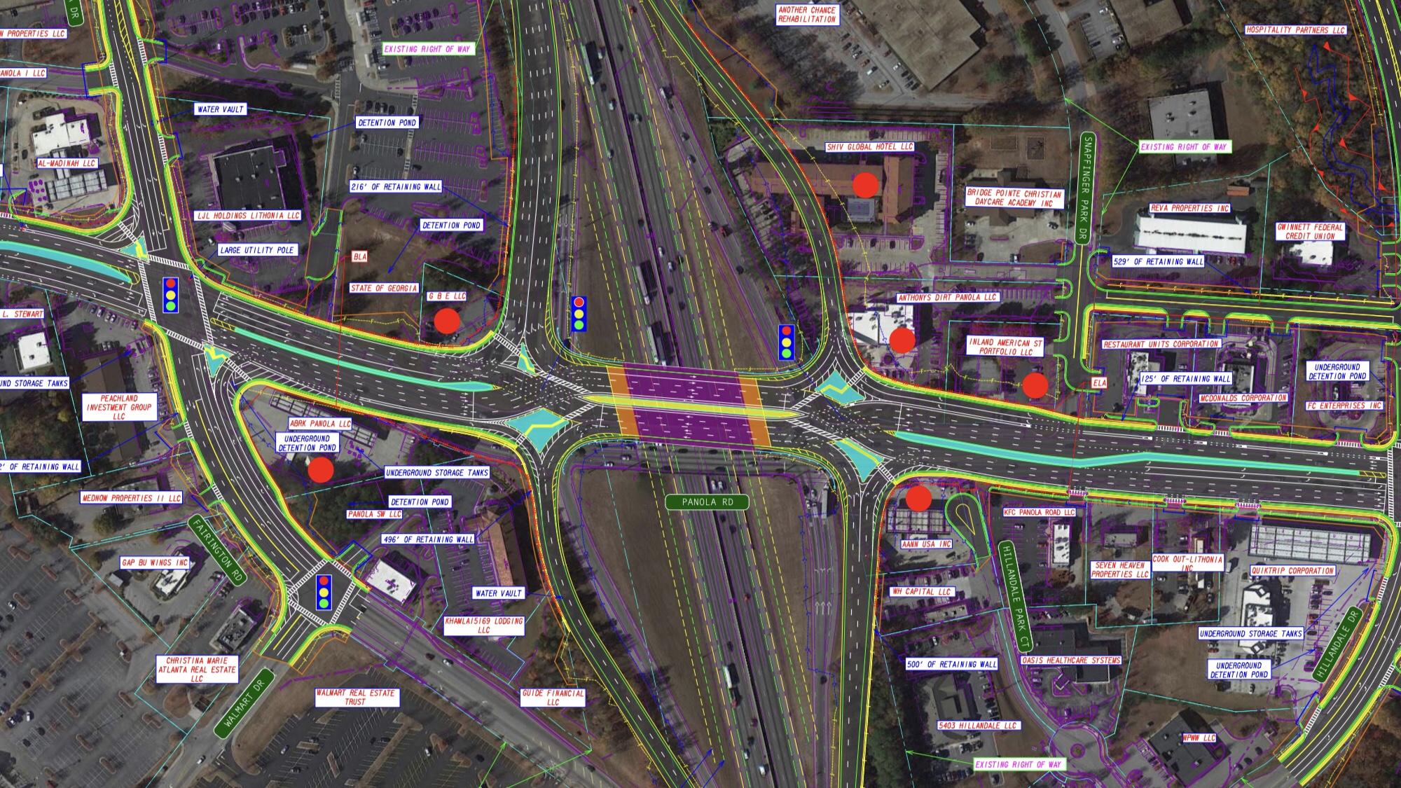 I-20 at Panola Road DDI concept layout (Georgia DOT photo)