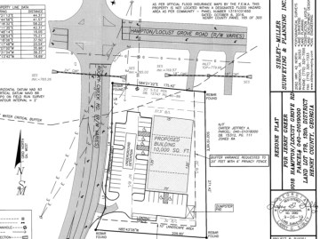 Concept site plan for Hampton-Locust Grove Road at Rocky Creek Road commercial development (Sibley-Miller photo)
