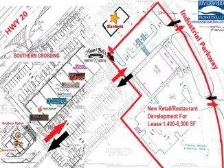 Site plan for Southern Crossing retail space (Riverwood Properties photo)