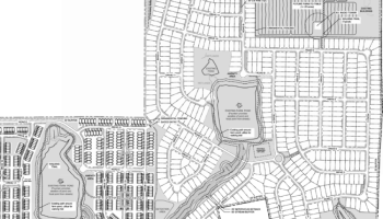 Site plan for Garden Lakes development (Falcon Design photo)