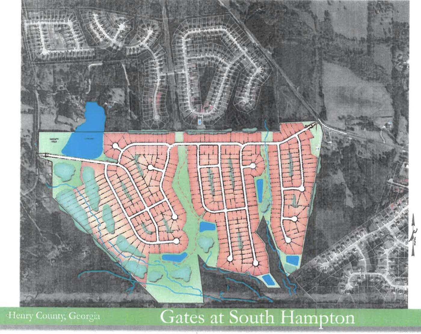 Site plan for Gates at South Hampton proposed development (HP Henry, LLC photo)