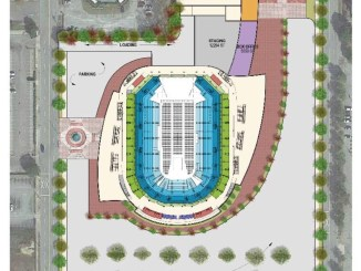 May 2018 site plan for new Augusta arena (Augusta Chronicle photo)
