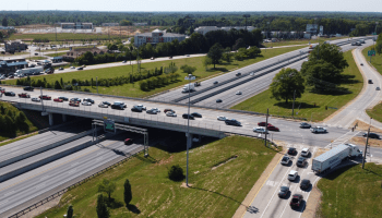 Aerial photo of I-75 exit 218 / state route 20