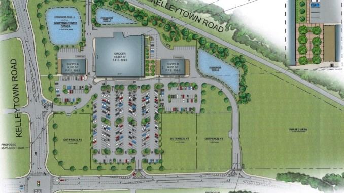 Site plan for Kelleytown grocery store June 2020 (JWA Ventures photo)