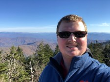 Photo of Clayton at Clingman's Dome (staff photo)