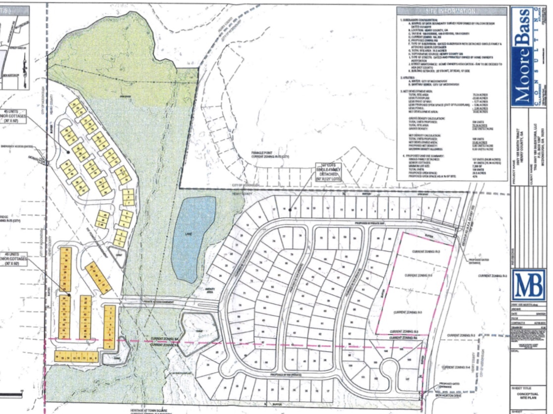 Concept site plan for SR 155 proposed RS development (Moore Bass Consulting photo)