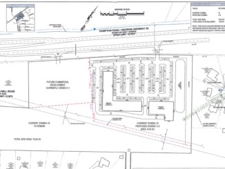 Concept site plan for SR 20 and Simpson Mill Road (Moore Bass Consulting photo)