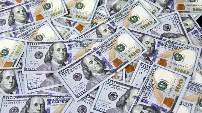 Photo of one-hundred dollar bills (Wordpress photo)