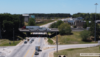 Aerial photo of I-75 exit 212 / Bill Gardner Parkway (staff photo)