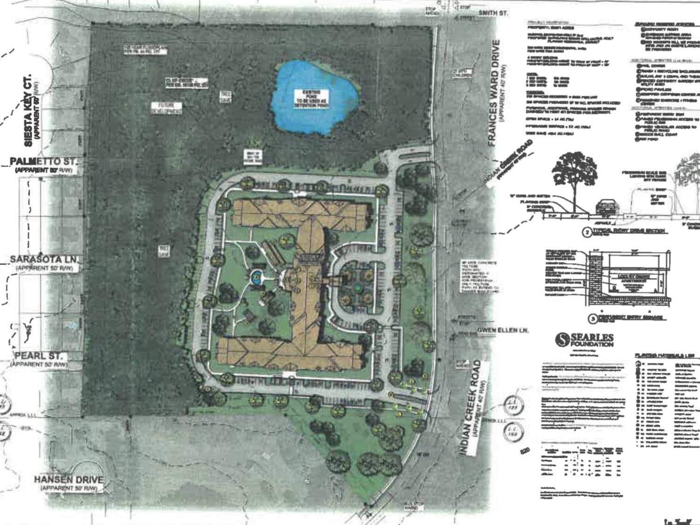 Concept site plan for Locust Grove senior apartments (Martin Riley Associates - Architects, P.C. photo)