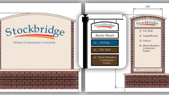 Photos of Stockbridge wayfinding signage (Stockbridge photos)