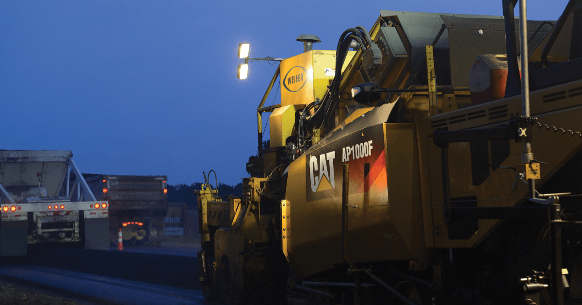 Photo of AP1000F Asphalt Paver (Caterpillar photo)