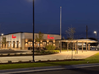 Photo of Chick-fil-a building exterior in Douglas, GA (Chick-fil-a photo)