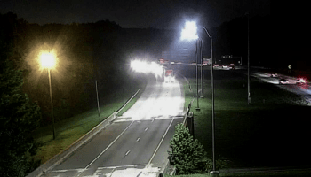 Photo of street lights on I-675 (Georgia DOT photo)