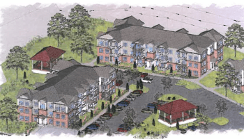 3-D rendering for McDonough Workforce Housing (Martin Riley Associates - Architects, P.C. photo)
