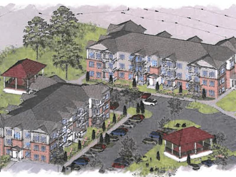 3-D rendering for McDonough Workforce Housing (Martin Riley Associates - Architects, P.C. photo)