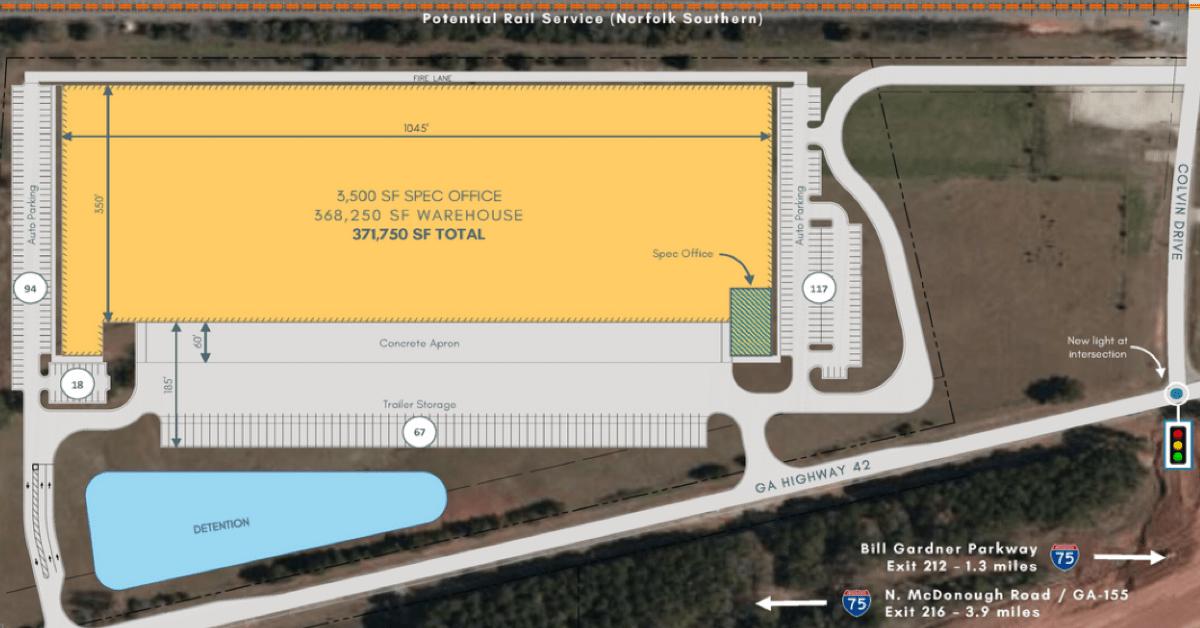 Concept site plan for Locust Grove Logistics Center (Reliant Real Estate Partners LLC photo)