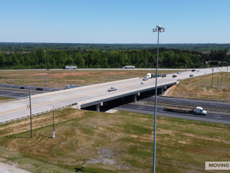 Aerial photo of I-75 exit 205 / state route 16 (staff photo)