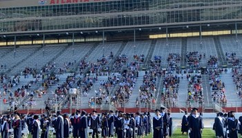 Photo of Henry County Schools graduation ceremony at Atlanta Motor Speedway in 2020 (Henry County Schools photo)