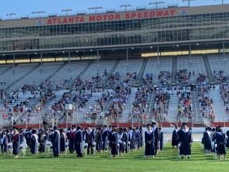 Photo of Henry County Schools graduation ceremony at Atlanta Motor Speedway in 2020 (Henry County Schools photo)
