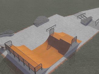 Photo of planned Hampton skate park (American Ramp Company photo)