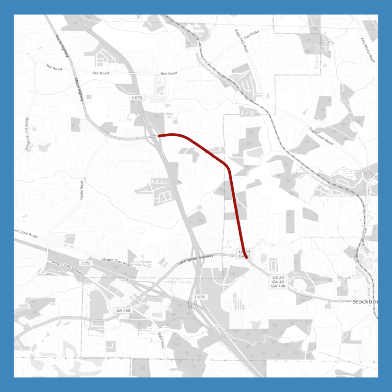 Map of SR 42 widening project between I-675 and SR 138 (staff photo)
