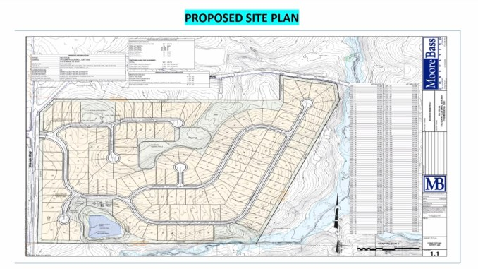 Concept layout for Brannan Road proposed subdivision (Moore Bass Consulting photo)