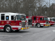 Photo of three Henry County fire engines at North Ola Park (staff photo)