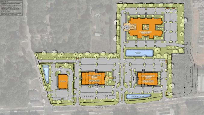Concept site plan for Jodeco Med One (Lyman Davidson Dooley, Inc. photo)