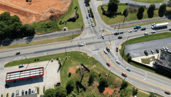Aerial photo of state route 155 at King Mill Road (BHGRE Commercial Metro Brokers photo)