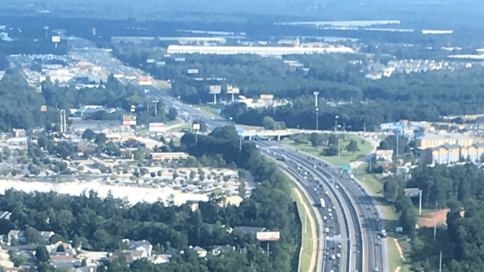 Aerial photo of I-75 in McDonough (Doug Turnbull photo)