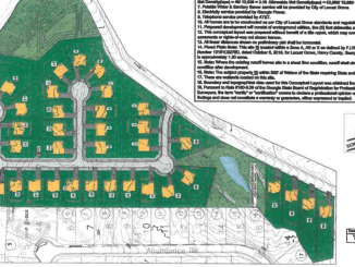 Concept layout for Bowden Street subdivision. Photo depicts forty proposed lots. (SPHINX Design Consultants photo)