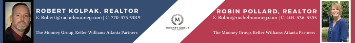 Banner ad showing Mooney Group realtors (Mooney Group photo)